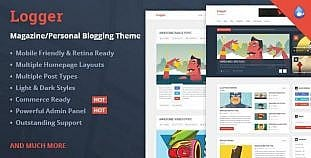 Logger WordPress Magazin Personal Blogging Teması